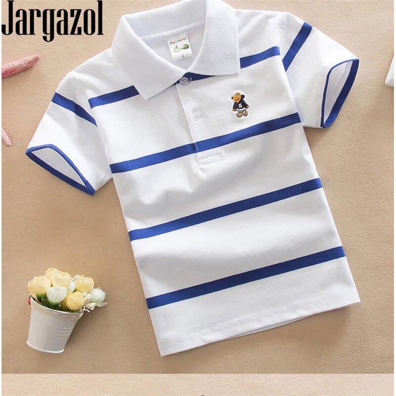 Camiseta Jargazol, ropa para niños, cuello vuelto, camiseta de verano para niño, camiseta a rayas de Color, ropa infantil, Camisetas Fnaf