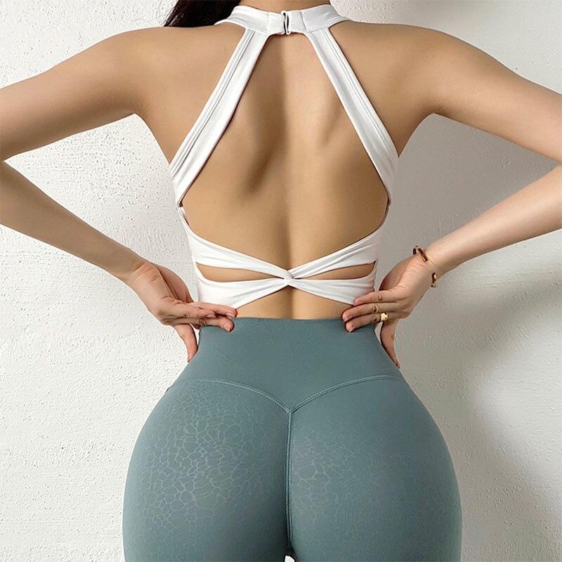 Sujetador Deportivo Sexy De Malla Transpirable Para Mujer, Top De Yoga Con...