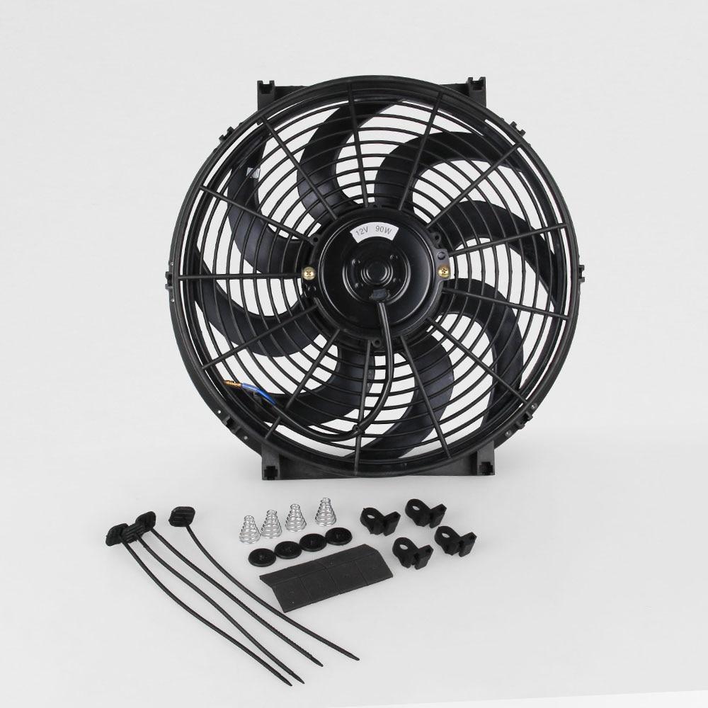 "Pouvoir 14 ""pulgadas S Blade Delgado eléctrico radiador Extractor de ventilador de alta potencia MOTOR 2750 CFM"