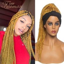 FREEWOMAN Sensationnel Synthetic Crochet Box Braids Hair Pre Stretched Braiding Bundle Yaki Straight