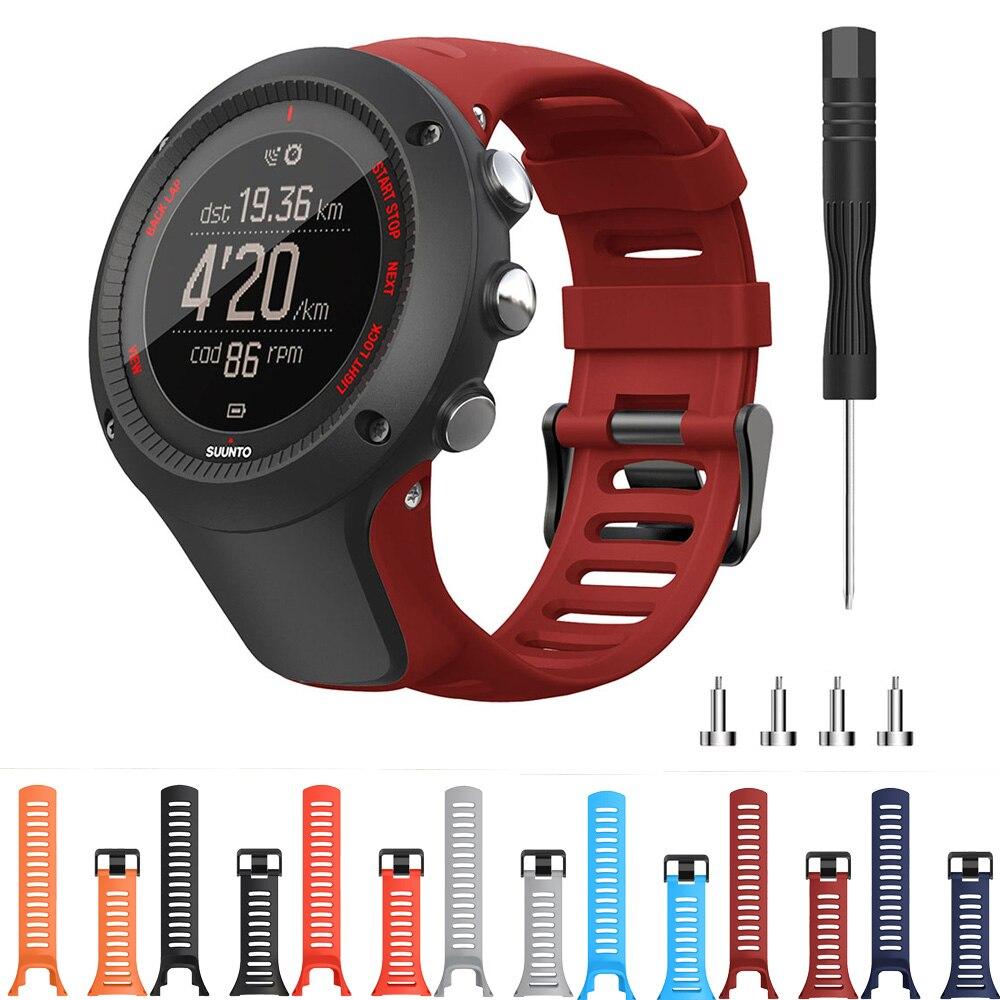 Сменный силиконовый ремешок для спортивных часов Suunto Ambit 3/Ambit 2/Ambit 1, Смарт-часы, браслет на запястье, ремешок 24 мм, Ремешки для наручных часов