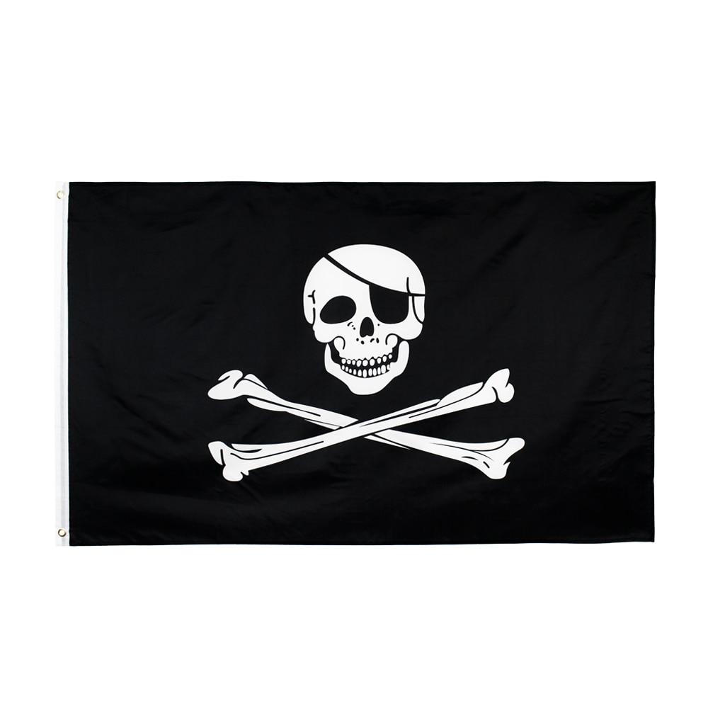 90x150cm grande crânio bandana ossos cruzados piratas bandeira jolly roger pirata bandeira