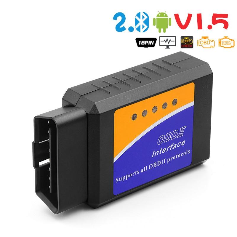 ELM 327 V1.5 OBD2 Scanner For Car ELM327 Bluetooth OBDII Auto Diagnostic Tools ELM-327 OBD 2 Engine Code Reader For Android launch x431 cr3001 full obd ii eobd function code reader cr3001 auto scanner diagnostic pk elm327 cr319