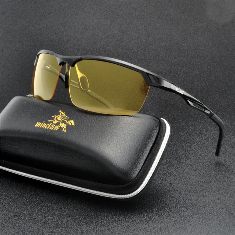 Aluminum magnesium Night Vision Sun glasses Men Anti-Glare Polarized Sunglasses Brand Design 2019 Men Driving Sunglasses NX