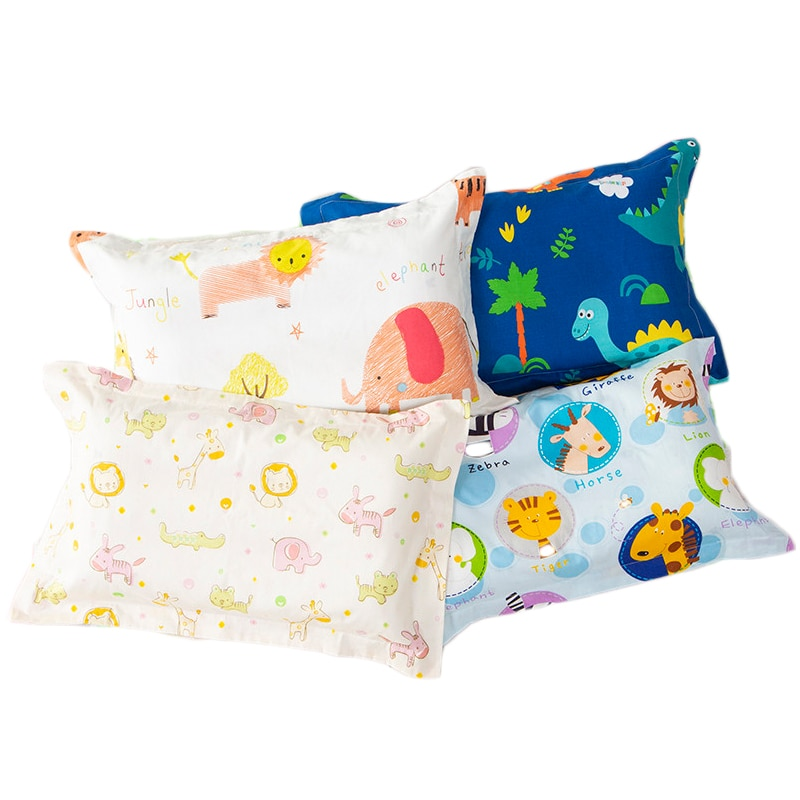Funda de almohada de algodón para niños, funda de almohada para Niñas para niños, cama para recién nacidos