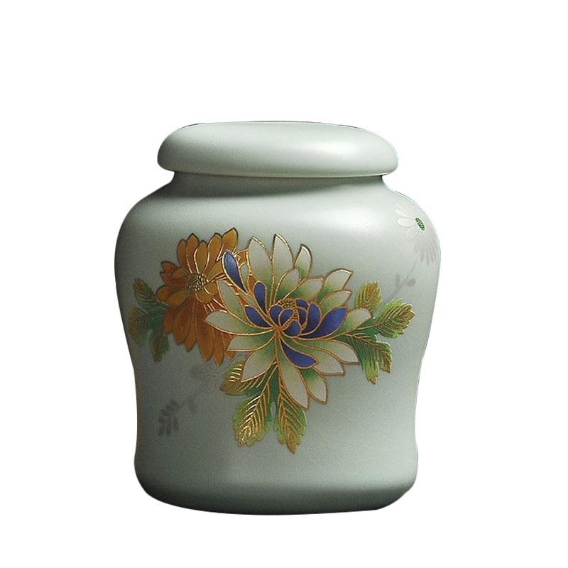 صندوق شاي سيراميك Tieguanyin ، جرة تخزين الشاي ، علب الشاي ، حاوية الشاي ، علبة الشاي ، حامل البذور ، الإكسسوارات ، الديكور