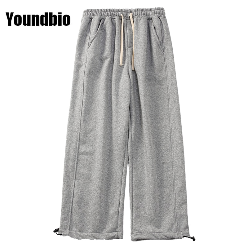 2021 New Men's Harlan Casual Pants Black Gray Solid Color Casual Pants Loose Large Size Fashion Trou