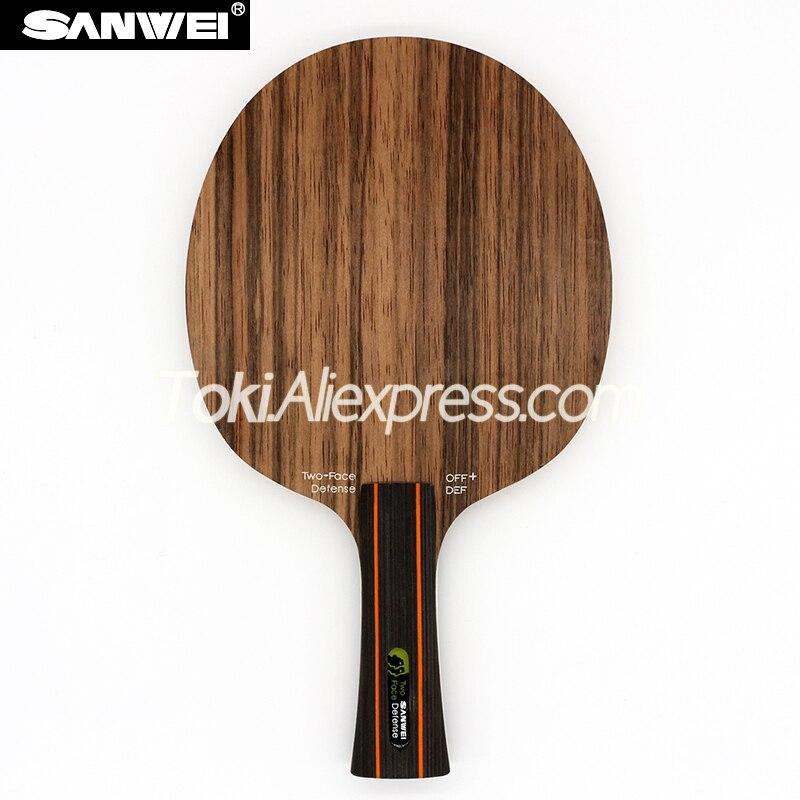 Lâmina de Tênis de Mesa Raquete de Defesa Sanwei Dois Rosto Face Ataque Defesa Ébano Hinoki Ping Pong Bat Paddle – 2