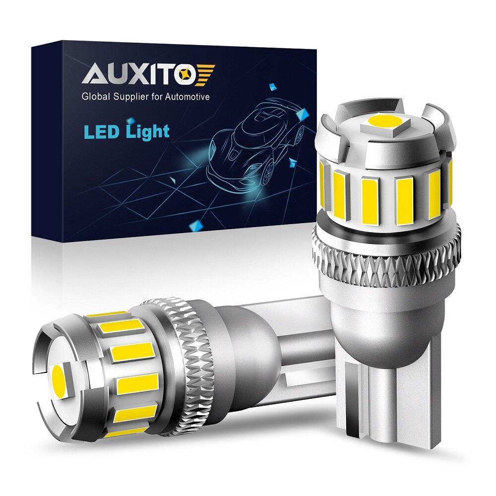 AUXITO 2x W5W LED T10 LED Bulbs Canbus Car Parking Position Lights Interior Dome Light For Audi A3 8P A4 A6 6B BMW E36 E46 E60
