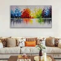 Peinture a lhuile sur toile moderne abstraite  Style nordique  Art deco  peint a la main  tableau mural pour salon  chambre a coucher  decor de maison