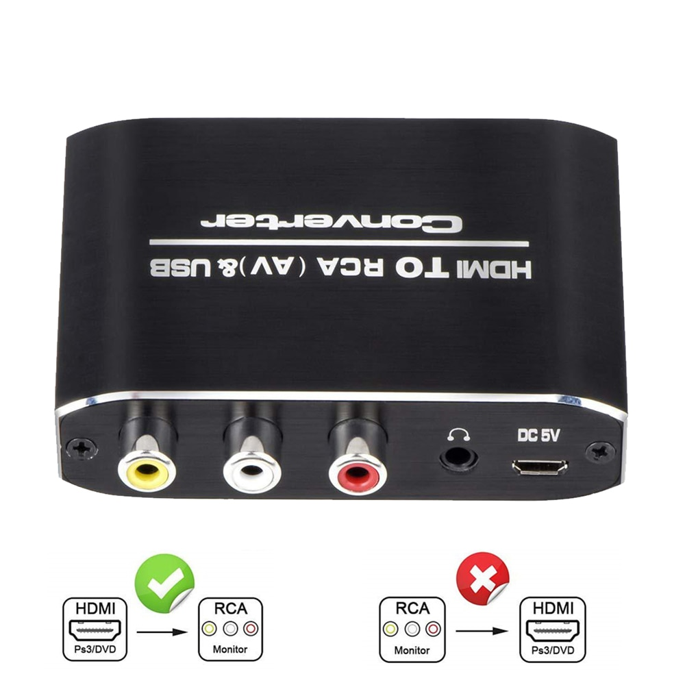 Преобразователь Hdmi-AV RCA, адаптер с аудио-видео, Full 1080P выход, Hdmi-аудио-видео для дисплеев, ТВ-проекторов, компьютеров