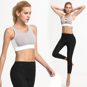 Professional Women Breathable Yoga Vest Bras Mesh Shockproof Athletic Gym Sports Running Seamless Fitness Sport Bra Underwear