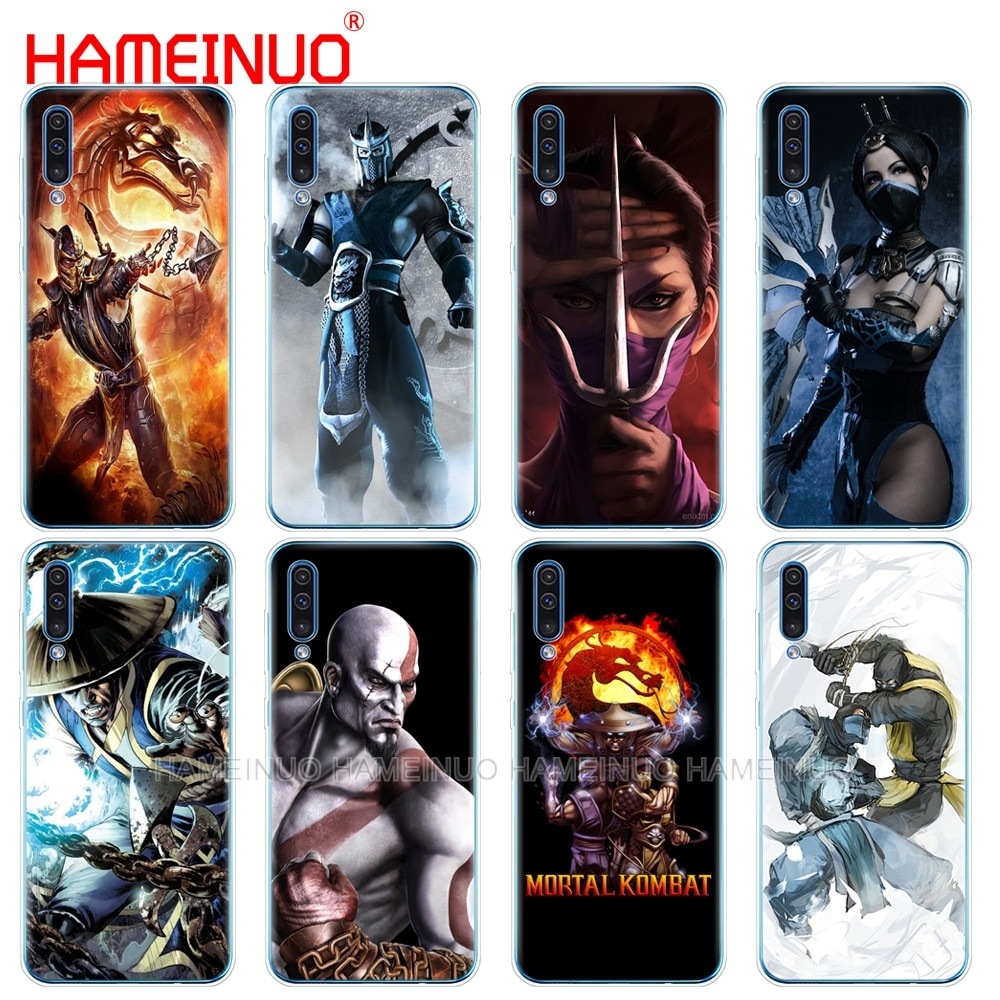 Caja del teléfono de silicona caso de la cubierta para Samsung Galaxy S10 E PLUS A10 A20 A30 A40 A50 A70 A10E A20E M20 cubierta escorpión Sub Mortal Kombat x
