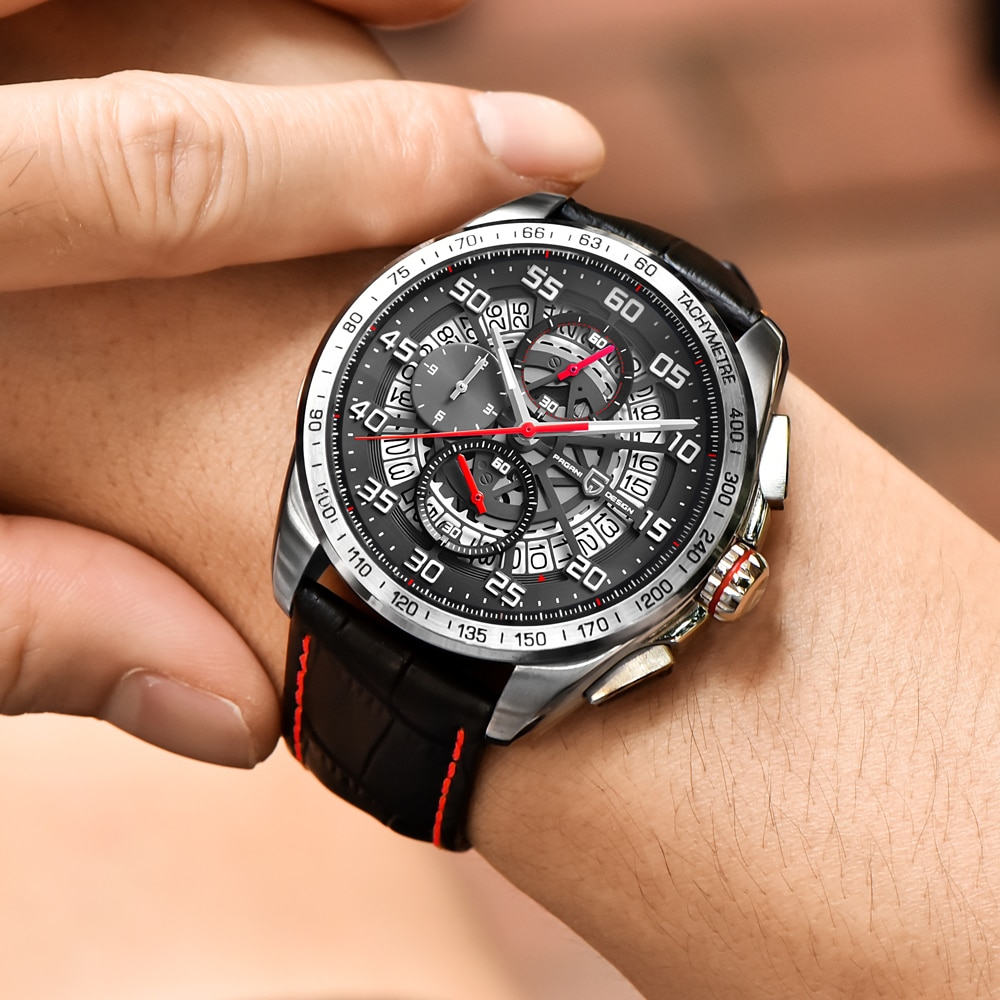 Pagani design masculino relógios de luxo da marca superior grande dial militar do exército relógio de quartzo moda casual relógio de negócios à prova dwaterproof água