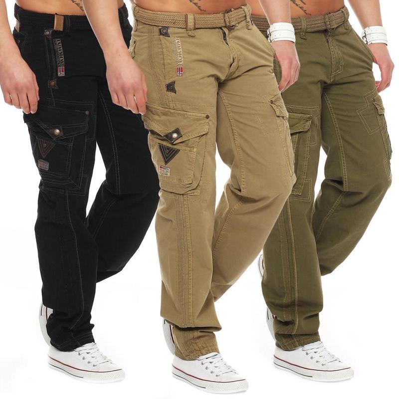Zogaa calças masculinas militares, calças masculinas multiuso, casuais, de bolso, sólidas, para esportes ao ar livre, calças cargo