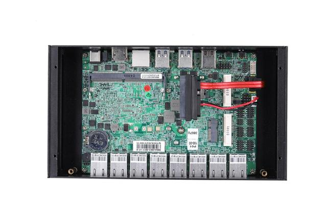 Qotom Fanless Mini PC Core i3 i5 i7 Q800GE with 8 Lan,4USB3.0 2USB2.0,RJ45 COM VPN Gateway Firewall Mini Computer 6