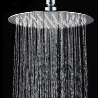 Pommeau de douche haute pression amovible  en acier inoxydable  carre et rond  accessoires de salle de bain