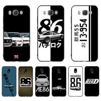yndfcnb hot japan initial d anime luxury phone case for samsung j7 j8 j6 j4plus j5 j7prime j2 j5prime m10 m20 m30