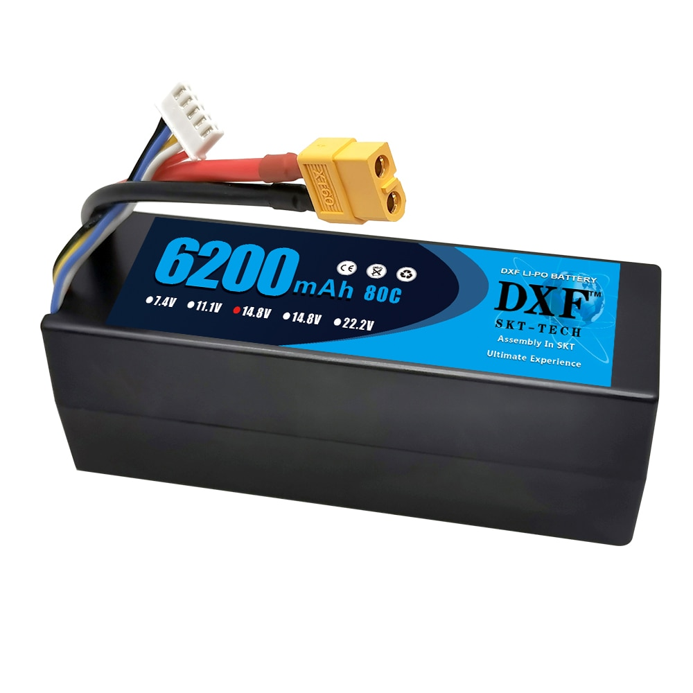 DXF 6200mAh 14.8V 80C Lipo Battery for RC Car 4S RC Lipo Battery Hardcase with Deans/XT60 Plug for RC Helicopter Car Boat Truck enlarge