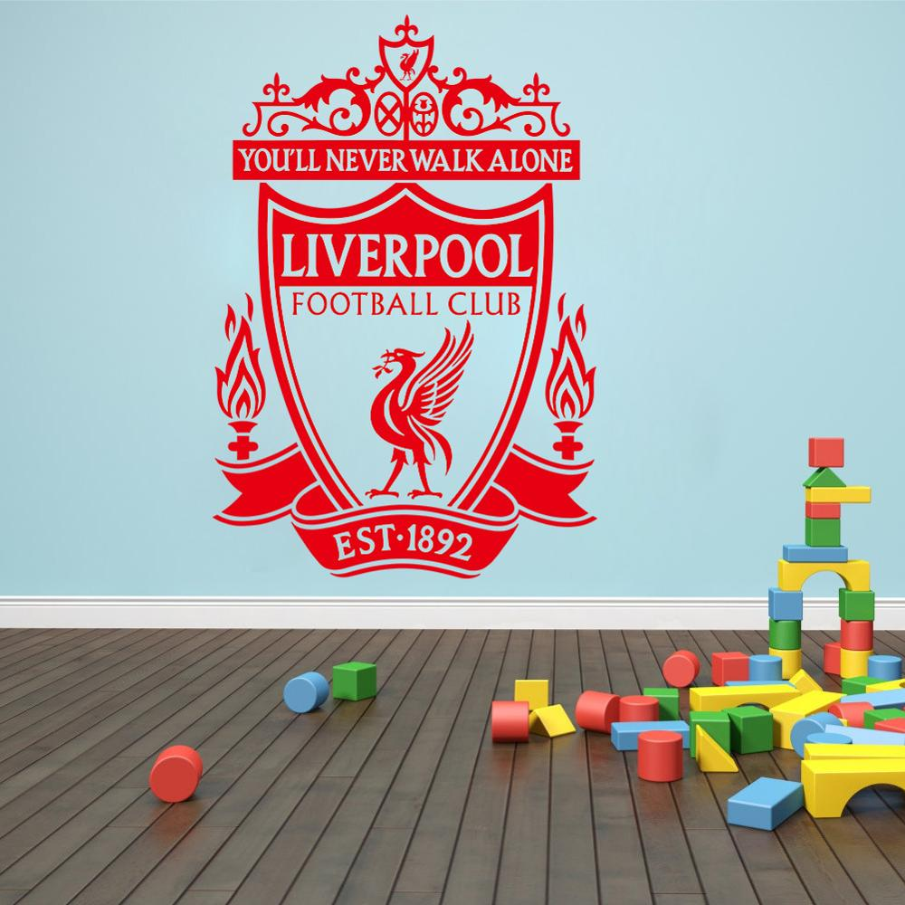 Home decor 3d liverpool wall sticker self adhesive vinyl football club wall decal