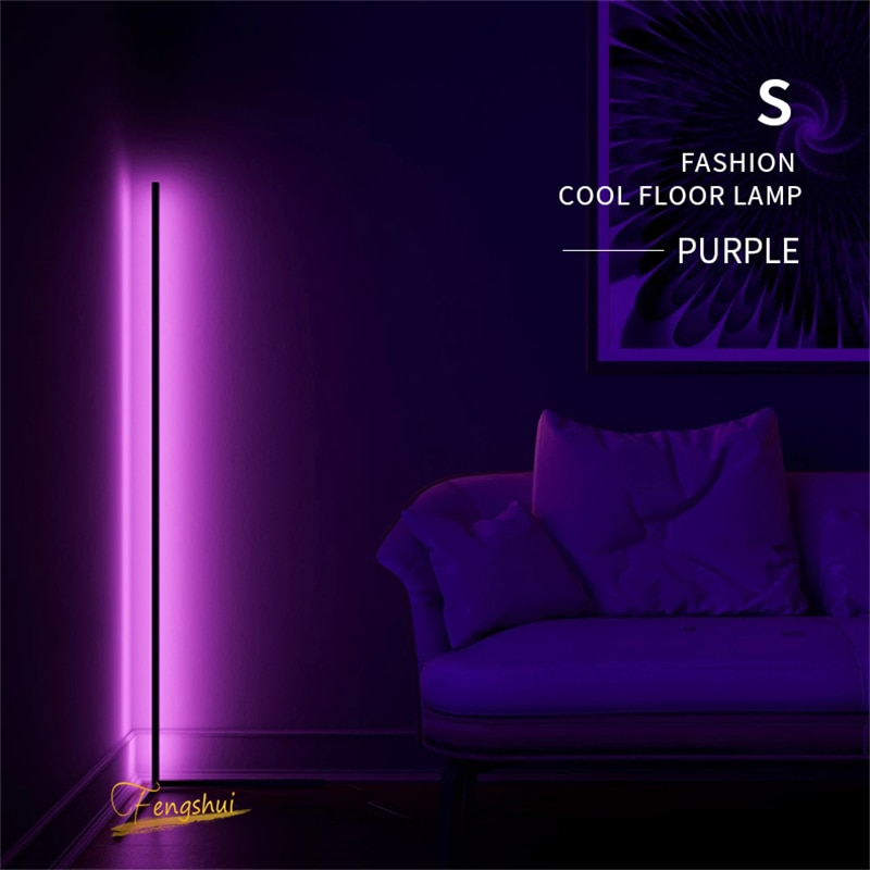lampadaire d angle led colore au design