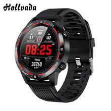 2020 New L12 Smart Watch ECG PPG hr Blood Pressure Oxygen IP68 Waterproof 300mAh Long Standby Bluetooth Call Smart Watch pk L9