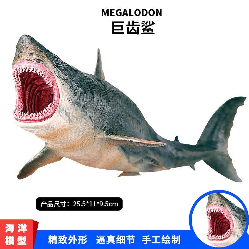 Prehistórico océano marino Megalodon Lamnidae figuras de acción salvaje tiburón grande SeaLife animales modelo colección de PVC juguete para niños