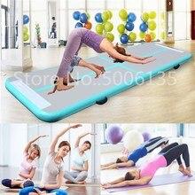 Tapis gonflables de Trampoline de plancher de culbutage de gymnastique dairtrack de voie de 3M 4M 5M pour le Yoga de cadeau de gymnaste/formation/danse/Taekwondo/gymnase