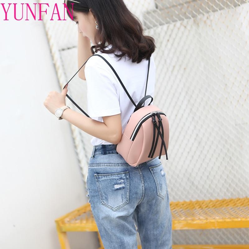 Модный женский рюкзак с кисточками, маленькая школьная сумка для книг для девочек-подростков, Женский дорожный ранец из мягкой кожи