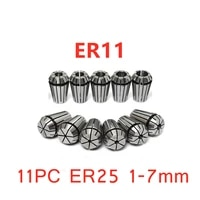 11pc er25 1 7mm cnc drill chuck high precision spring collet set milling lathe tools
