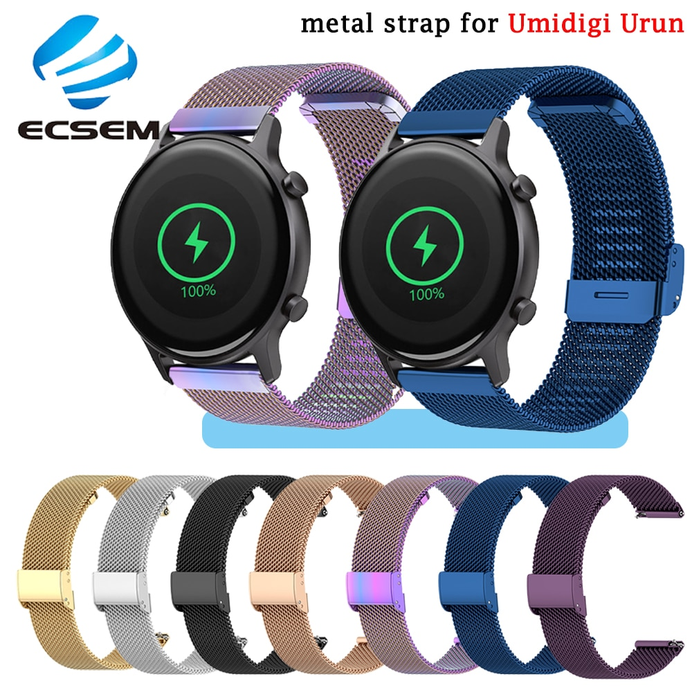 metal wrist strap for Umidigi Urun smart watch accessories replacement stainless steel wristband for Umidigi Uwatch 3S loop belt