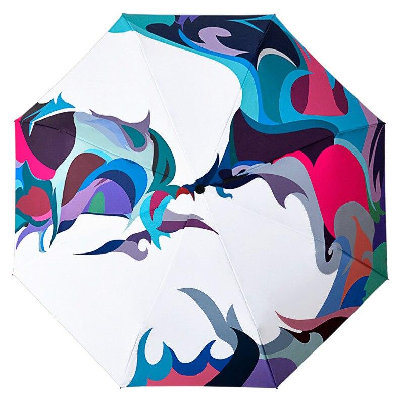 Paraguas Plegable inverso Para mujer, sombrilla automática Plegable Para Sol, jardín, jardín,...