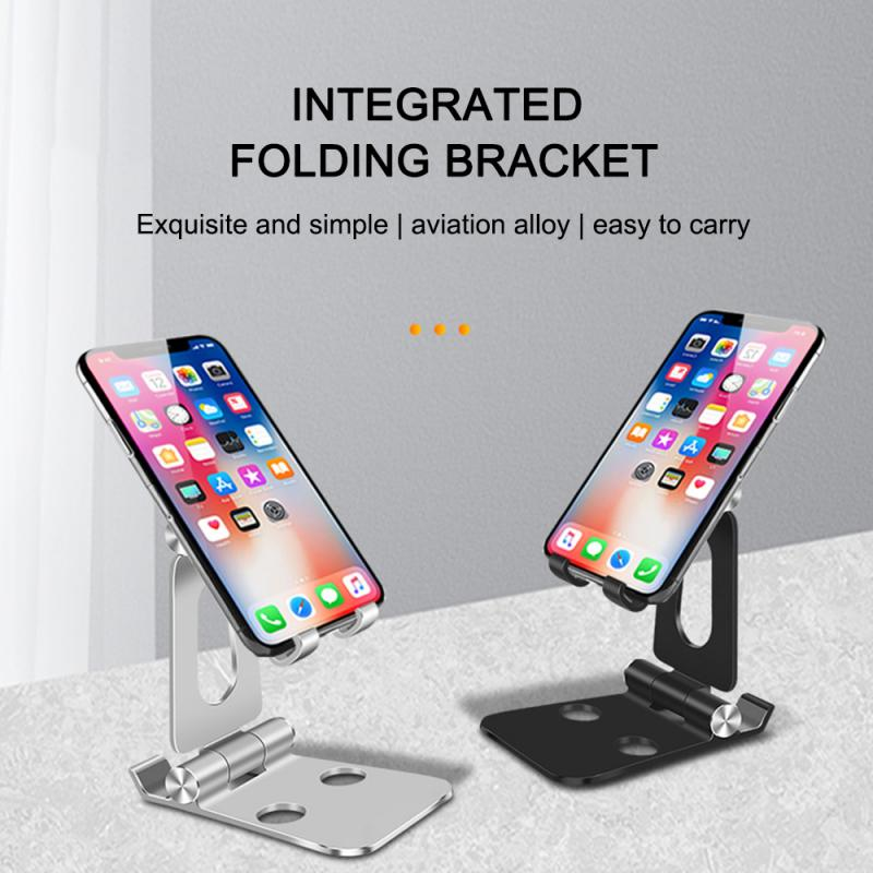 Alloy Foldable Desktop Stand Tablet Mobile Phone Pad Holder Bracket Adjustable Multifunction Rotary Tablet Stand For IPhone 11