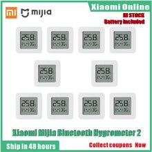2020New 1-10 шт. Xiaomi Mijia Bluetooth термометр 2 беспроводной смарт-Электрический цифровой термометр-гигрометр работать с Mijia APP