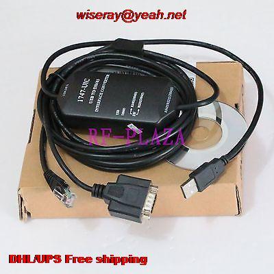 Cable de programación de 5 piezas DHL/EMS 1747-UIC para el USB de Allen Malley a DH485-USB a 1747-PIC PLC-A5