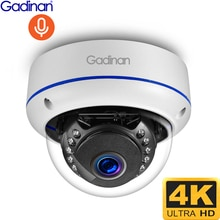 Gadinan 8MP 4K IP Camera POE Outdoor H.265 Metal Indoor Dome CCTV Night Vision Home Video Surveillan