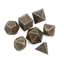 Ancien bronze métal dés mdn jeu de dés dados rpg dobbelstenen dados rol dices polyèdres d4 d6 d8 d10 d12 d20