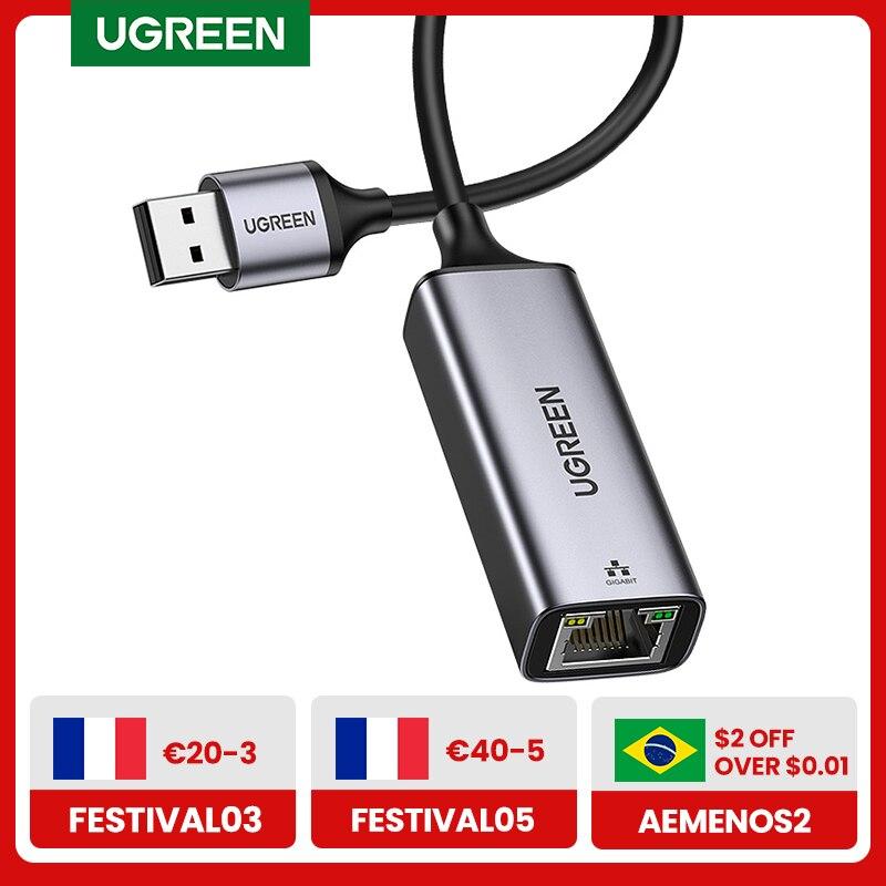 UGREEN USB 3.0 Ethernet Adapter USB 2.0 Network Card to RJ45 Lan for Windows 10 PC Xiaomi Mi Box 3 S
