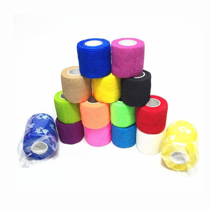 aliexpress.com - 2.5cm*5M Self-Adhesive Elastic Bandage First Aid Medical Health Care Treatment Gauze Tape Emergency Muscle Tape First Aid Tool