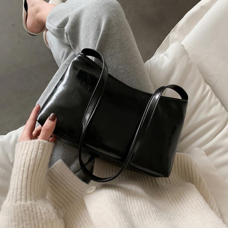 Женская сумка через плечо в стиле ретро из мягкой искусственной кожи однотонная темпераментная очаровательная элегантная сумка оптом модн...