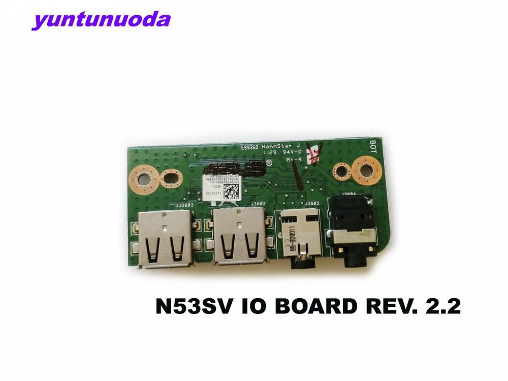 Original para ASUS N53SV IO Junta REV Placa de Audio USB 2,2 probada buena envío gratis