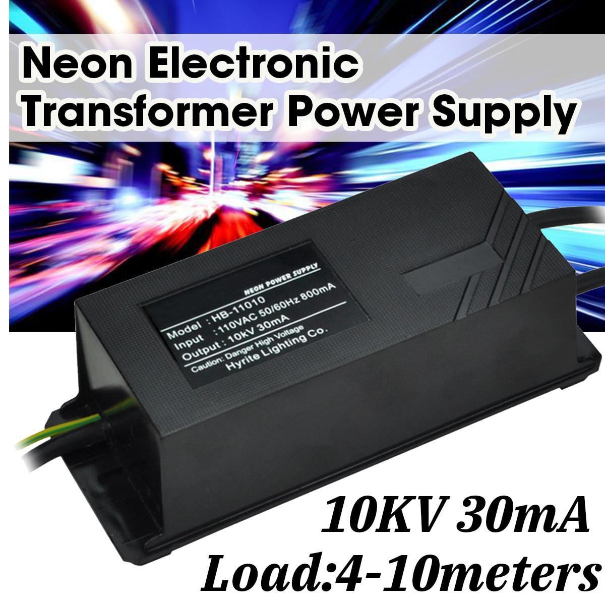 Carga eletrônica de néon 4-10 medidores da fonte de alimentação do transformador de 110v 7. 5kv/10kv 30ma
