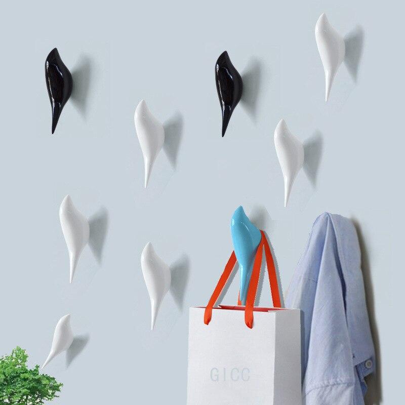птица Форма стены Ленточные швейные принадлежности Смола дерева для хранения зерна стойки Спальня двери после вешалк