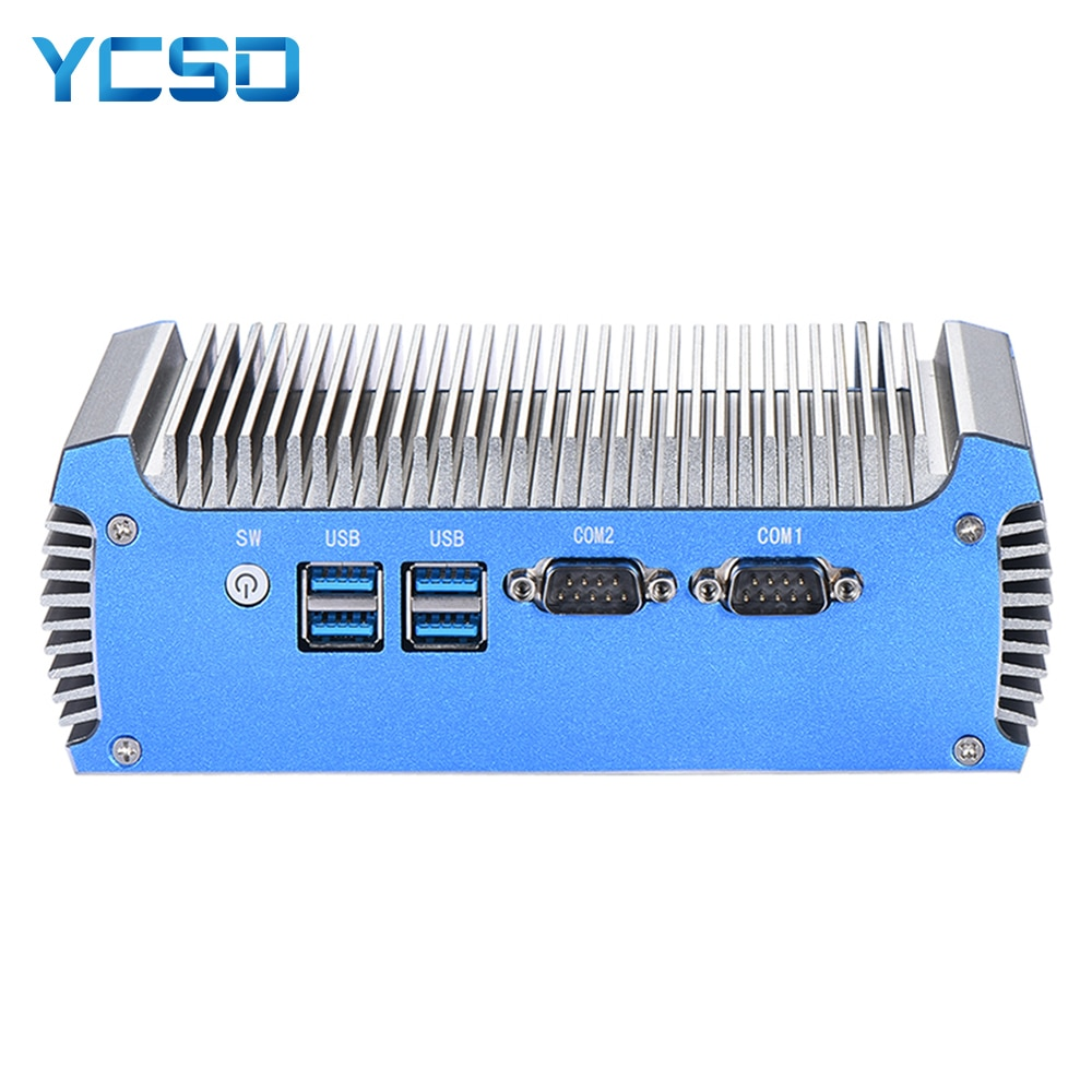 Fanless Mini PC Intel Pentium 3805U Core i7 4500U Windows 10 7 Linux Thin Client Minipc Pfsense Micro 2Lans Industrial PC