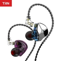 Наушники-вкладыши TRN ST1 1DD 1BA, гибридные Hi-Fi наушники для спорта и бега, монитор DJ, гарнитура с QDC кабелем TRN V90 BA5 VX MT1