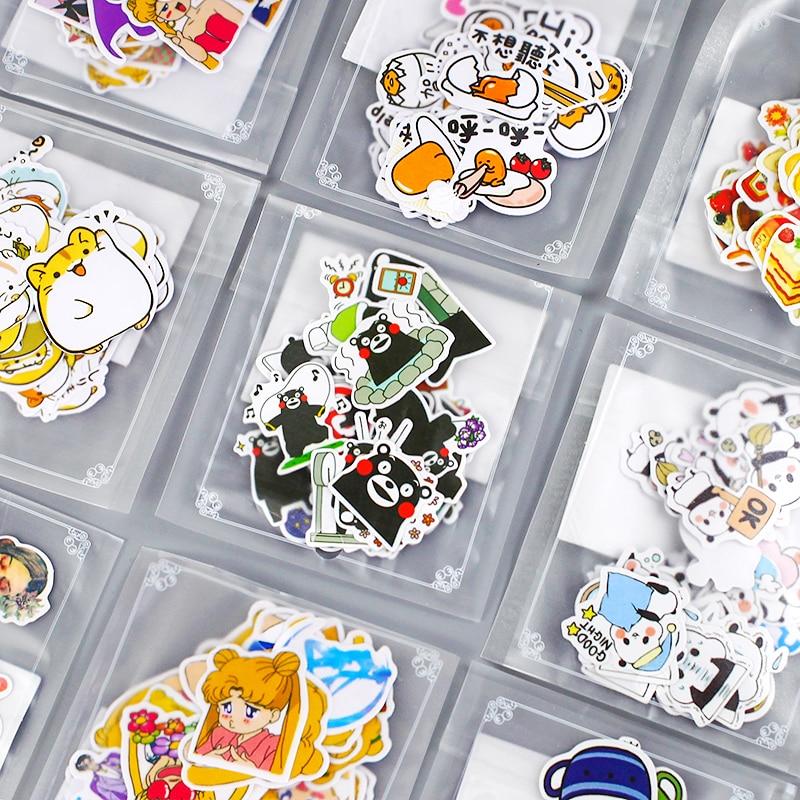 Милые наклейки, эстетичные мини Мультяшные наклейки, наклейки, декоративные наклейки для дневника, наклейки для детей, канцелярские товары,...