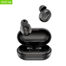 Qcy t4 tws v5.0 esportes sem fio bluetooth mini fone de ouvido controle app 3d estéreo fones com cancelamento ruído
