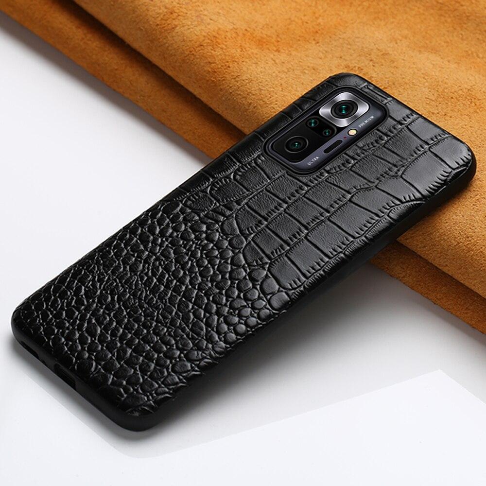 Genuine Leather Case for Xiaomi Redmi Note 10 Pro 10S Note 9 Pro 8 9S  Cover For Mi 10 11 Ultra 10T Lite 9 9T Poco X3 Pro NFC F3