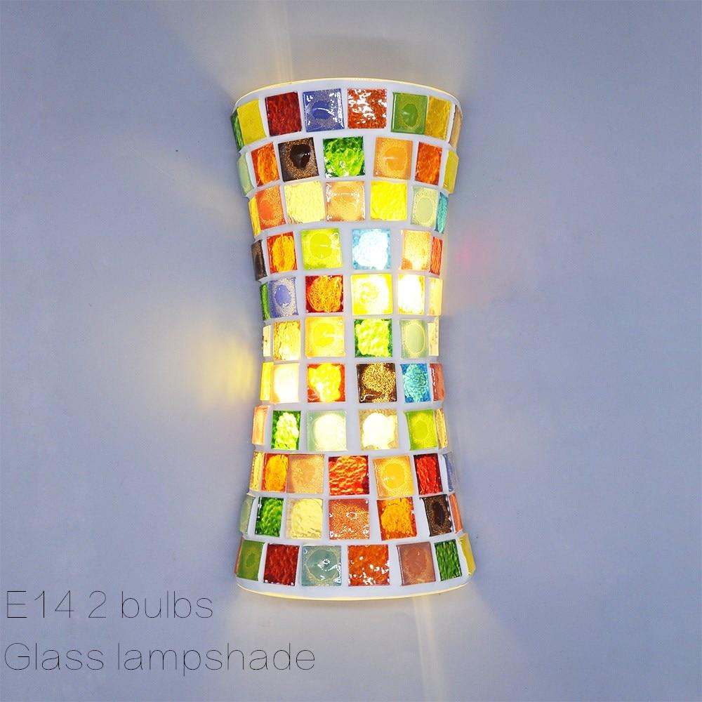 Artpad LED iluminación de pared en interiores Bohemia apliques lámparas Retro, lámpara de pared de vidrio Vintage con sombra para dormitorio Sala pasillo