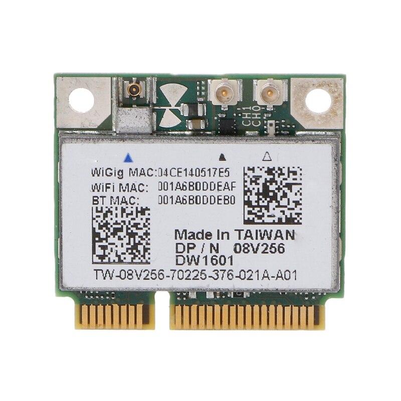 DW1601 QCA9005 tarjeta inalámbrica 8V256 WiGig 802.1ad 7Gbps inalámbrico Bluetooth 4,0 Mini tarjeta Pcie